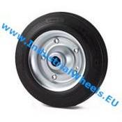 Wheel, Ø 80mm, rubber, black, 65KG