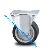 Fixed caster, Ø 125mm, elastic-tyre, 200KG