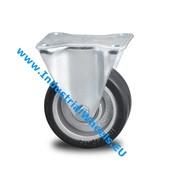 Roda fixa, Ø 125mm, goma vulcanizada, 200KG