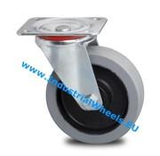 Roda giratória, Ø 100mm, goma vulcanizada, 150KG