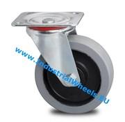 Swivel caster, Ø 125mm, elastic-tyre, 200KG
