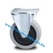 Fixed caster, Ø 100mm, elastic-tyre, 150KG