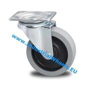 Swivel caster, Ø 100mm, elastic-tyre, 150KG