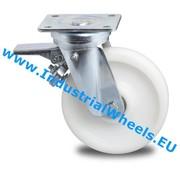 Swivel caster with brake, Ø 125mm, Polyamide wheel, 600KG