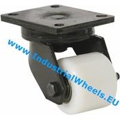 Drejeligt hjul, Ø 82mm, PolyamidHjul, 750KG