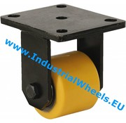 Fixed caster, Ø 85mm, Vulcanized Polyurethane tread, 800KG