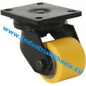 Drejeligt hjul, Ø 70mm, Vulkaniseret Polyuretan, 500KG