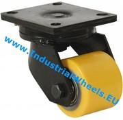 Roda giratória, Ø 85mm, poliuretano fundido, 800KG