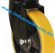 Swivel caster, Ø 200mm, Vulcanized Polyurethane tread, 1100KG