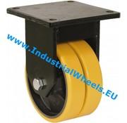 Roda fixa, Ø 125mm, poliuretano fundido, 600KG