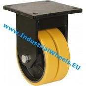 Fast hjul, Ø 300mm, Vulkaniseret Polyuretan, 4000KG