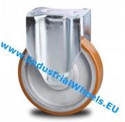 Roulette fixe, Ø 125mm, Polyurethane vulcanisé bandage, 400KG