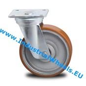 Drejeligt hjul, Ø 200mm, Vulkaniseret Polyuretan, 950KG
