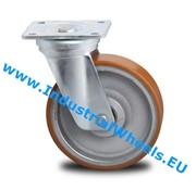 Roulette pivotante, Ø 200mm, Polyurethane vulcanisé bandage, 950KG