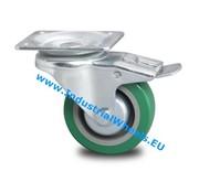 Zestaw obrotowy blokadą, Ø 100mm, elastycznej gumy, 250KG
