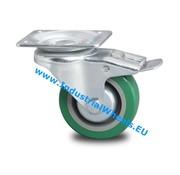 Roulette pivotante avec blocage, Ø 100mm, élastique, 250KG