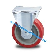 Fast hjul, Ø 125mm, Elastisk gummi, 250KG