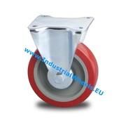Roulette fixe, Ø 125mm, élastique, 250KG