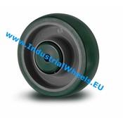 Hjul, Ø 200mm, Polyuretan, 500KG