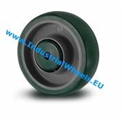 Wheel, Ø 200mm, Injected polyurethane, 500KG