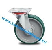 Drejeligt hjul, Ø 125mm, Polyuretan, 200KG