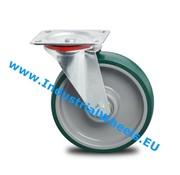 Roda giratória, Ø 200mm, poliuretano injetado, 300KG