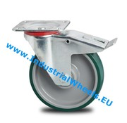 Swivel caster with brake, Ø 100mm, Injected polyurethane, 150KG