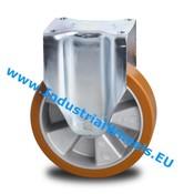 Fast hjul, Ø 200mm, Vulkaniseret Polyuretan, 800KG