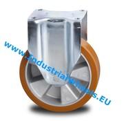 Fast hjul, Ø 125mm, Vulkaniseret Polyuretan, 300KG