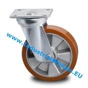 Drejeligt hjul, Ø 160mm, Vulkaniseret Polyuretan, 600KG