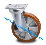 Swivel caster, Ø 160mm, Vulcanized Polyurethane tread, 600KG