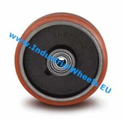 Wheel, Ø 100mm, Vulcanized Polyurethane tread, 325KG