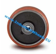 Wheel, Ø 125mm, Vulcanized Polyurethane tread, 400KG