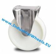 Fixed caster, Ø 125mm, Polyamide wheel, 450KG