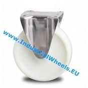 Fixed caster, Ø 200mm, Polyamide wheel, 500KG