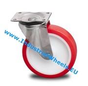 Lenkrolle, Ø 125mm, gespritztem Polyurethan, 300KG