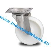 Drejeligt hjul, Ø 125mm, PolyamidHjul, 200KG