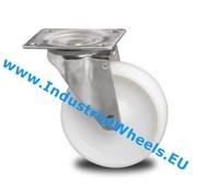 Roda giratória, Ø 125mm, Roda Poliamida, 200KG