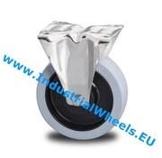 Roulette fixe, Ø 100mm, Caoutchouc vulcanisé élastique, 150KG