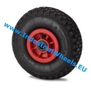Rueda, Ø 260mm, neumático perfil macizo, 150KG