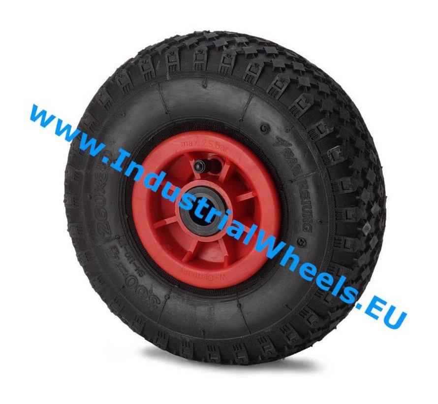 Ruedas para transporte industrial Rueda neumático perfil macizo, cojinete de rodillos, Rueda-Ø 260mm, 150KG