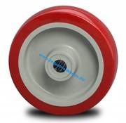 Koło, Ø 125mm, wtryskiwanego poliuretanu, 250KG