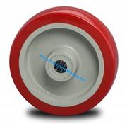 Wheel, Ø 125mm, Injected polyurethane, 250KG