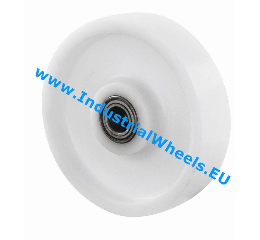 Roulettes industrielles Roue de Roue Polyamide, roulements à billes de précision, Roue-Ø 125mm, 600KG