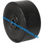 Hjul, Ø 200mm, Vulkaniseret gummi elastisk dæk, 1200KG