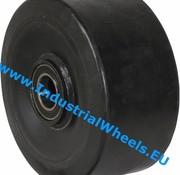 Hjul, Ø 250mm, Vulkaniseret gummi elastisk dæk, 1000KG