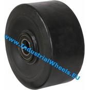 Rad, Ø 300mm, Vulkanisierte gummi Elastikreifen, 1500KG