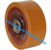 Hjul, Ø 250mm, Vulkaniseret Polyuretan, 2500KG