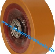 Wheel, Ø 250mm, Vulcanized Polyurethane tread, 2500KG