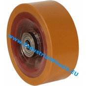 Wheel, Ø 250mm, Vulcanized Polyurethane tread, 4000KG